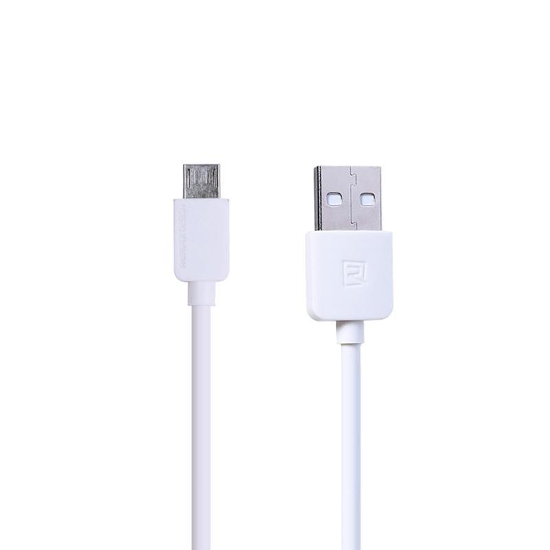USB Cable Remax (OR) Light Speed RC-006m microUSB White 1m (5-027)