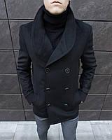 Пальто двубортное мужское кашемировое демисезонное / V Teatr black