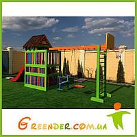 Игровые детские уличные комплексы Тарзан детальная покраска