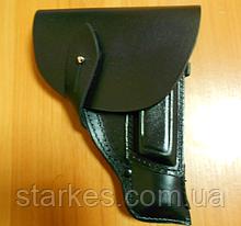 Кобуры для ПМ закрытые кожаные, черного цвета, код : 411.