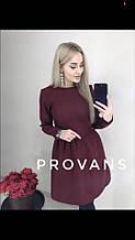 Женское однотонное весенне-осеннее мини платье с длинным рукавом, размеры 42-48, 3 цвета