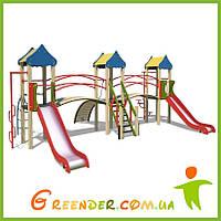Детская игровая площадка Три башни на улицу из дерева