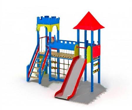 Деревянный детский игровой комплекс Две башни, фото 2