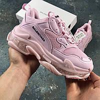 ✔️ Кроссовки женские Balenciaga Triple-S Pink - Розовые