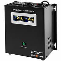 ИБП LogicPower LPY-W-PSW-1000VA+ (700Вт), Lin.int., AVR, 2 х Schuko, металл (LP4144)