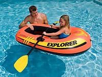 Надувная одноместная детская лодка Intex Интекс 147х84х36 см