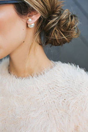Серьги-пусcеты Dior, сирень, фото 2