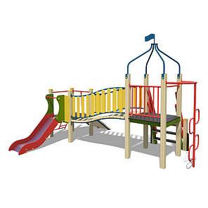 Деревянный игровой комлекс для детишек Кубик 6 на улицу, фото 2