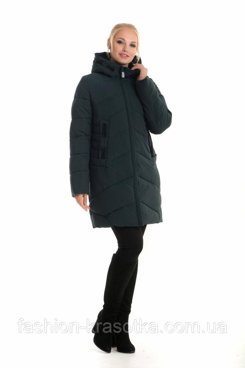 Женская модная зимняя куртка.