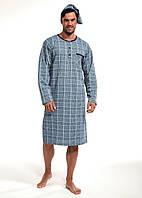 Мужская ночная сорочка с колпаком CORNETTE PM-110 640802, 100 % хлопок, Польша