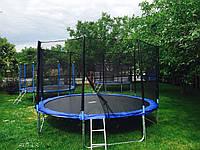 Батут с сеткой и лестницей двойной 312 см, фото 1