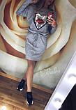 Теплое платье туника футляр ангора софт с карманами + Пайетки, фото 2