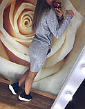 Теплое платье туника футляр ангора софт с карманами + Пайетки, фото 5