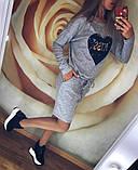 Теплое платье туника футляр ангора софт с карманами + Пайетки, фото 7