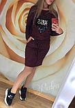 Теплое платье туника футляр ангора софт с карманами + Пайетки, фото 9