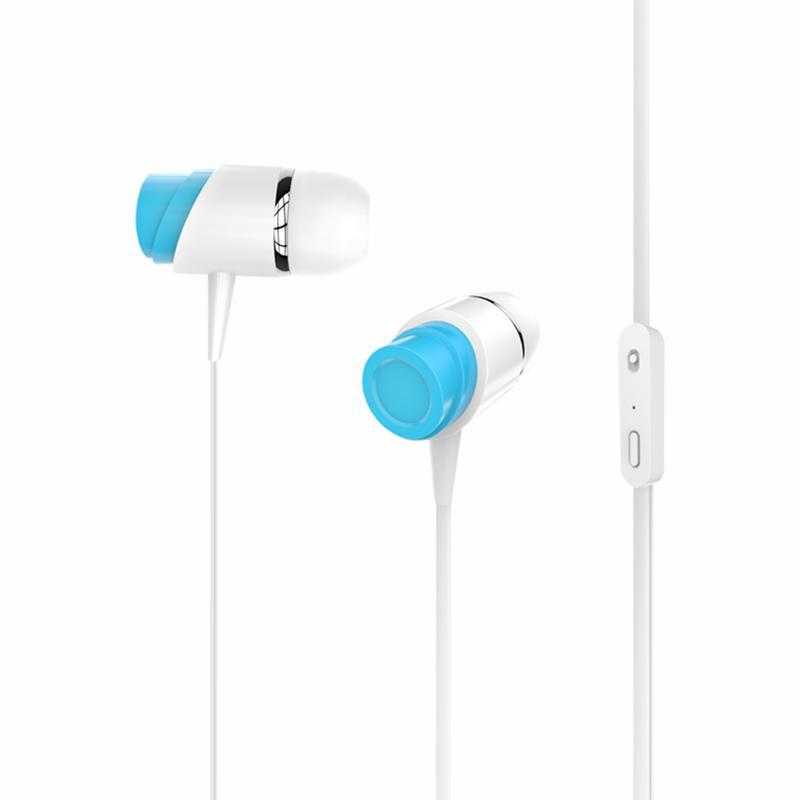 HF Golf M4 White/Blue (mic + button call answering)