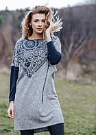 Платье для дома теплое KEY LHD-081 2 B19, Польша