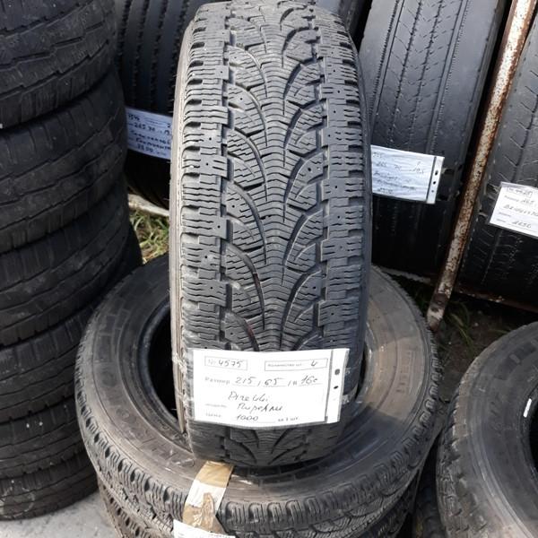 Шины б.у. 215.65.r16с Pirelli Chrono Winter Пирелли. Резина бу для микроавтобусов. Автошина усиленная. Цешка