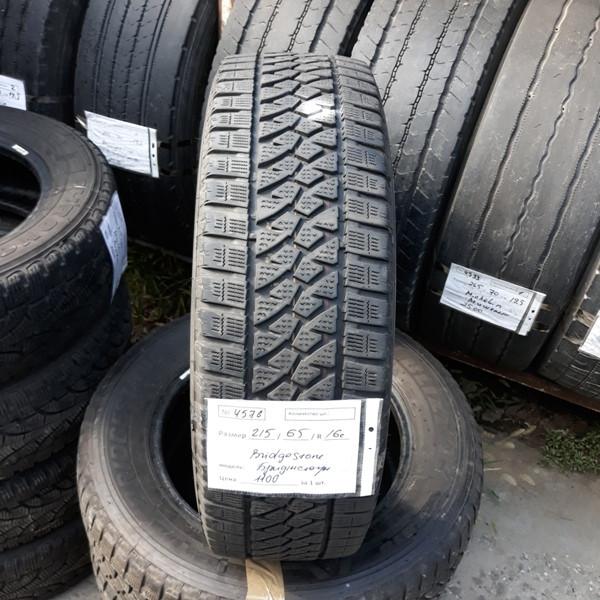 Шины б.у. 215.65.r16с Bridgestone Blizzak W810 Бриджстоун. Резина бу для микроавтобусов. Автошина усиленная.