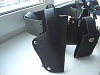 Кобуры для ПМ поясные,открытые,кожаные, черного цвета,код:421.