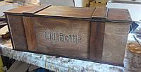 Деревянная коробка для упаковки вина   винтаж