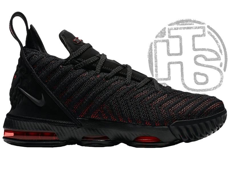 Мужские кроссовки Nike LeBron 16 Fresh Bred Black University Red AQ2465-002