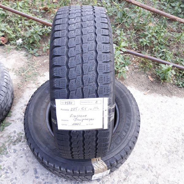 Бусовские шины б.у. / резина бу 225.65.r16с Firestone Van Hawkwinter Файрстоун