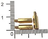 Стійка металева гайка/гвинт М2х10+3, фото 2