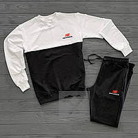 Мужской спортивный костюм в стиле New Balance black-white осенний / весенний
