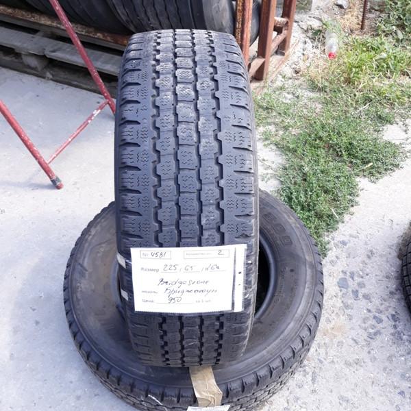 Шины б.у. 225.65.r16с Bridgestone Blizzak W800 Бриджстоун. Резина бу для микроавтобусов. Автошина усиленная.