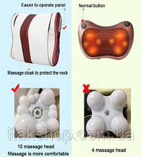 Роликовый Массажер для спины и шеи (массажная подушка большая) Massage 55 w, фото 2