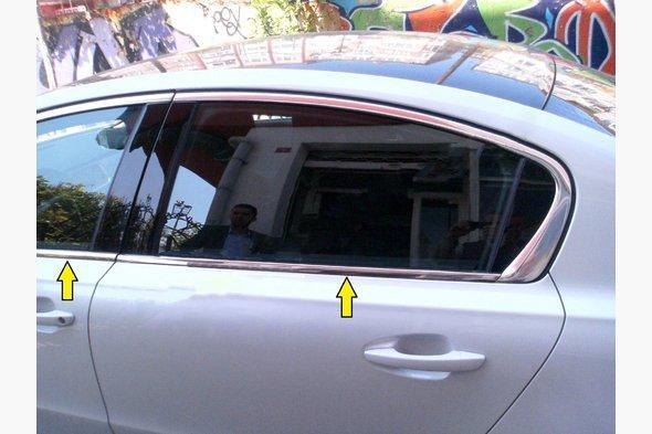 Нижняя окантовка стекол (Sedan, нерж) Peugeot 508