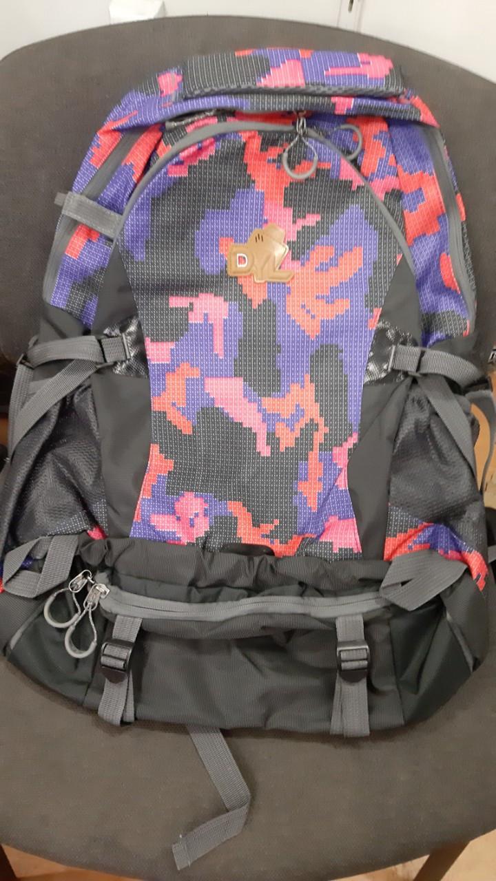 """Туристический рюкзак на 50 л. """"Пиксель радужный"""""""