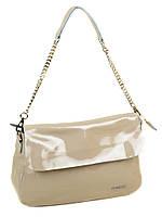 БРАК!!!Уценка!!! Женская сумочка классическая из натуральной кожи бежевого цвета