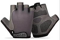 Перчатки для фитнеса, велосипедные, спорт, туризм нескользящие фирма Zacro размер М