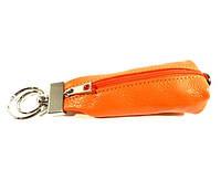Ключница кожаная Desisan 200 оранжевая, расцветки в наличии
