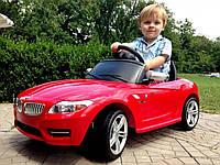 Детский электромобиль M 3175 EBLR-3, BMW, колеса EVA, Кожаное сиденье, красный