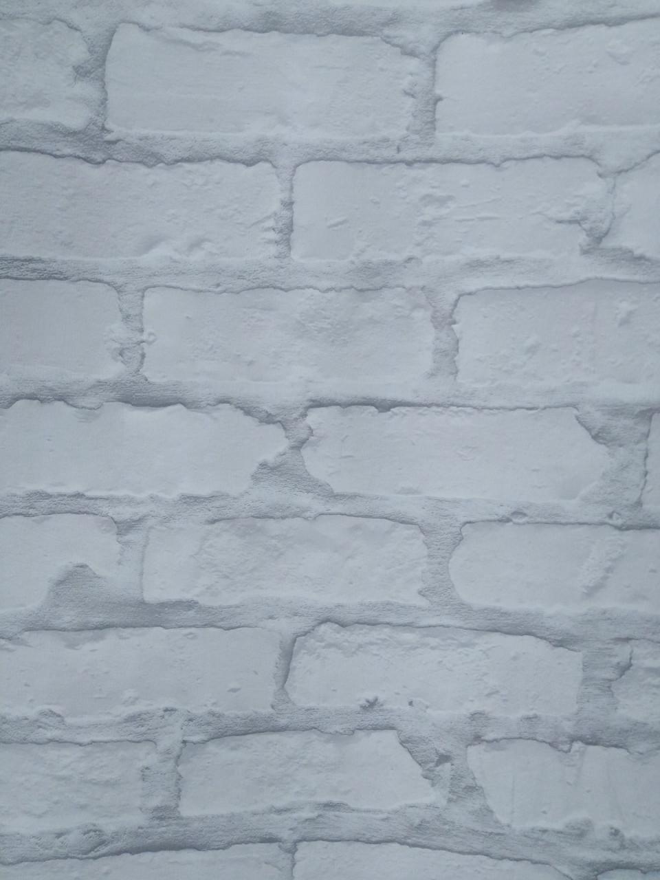 Обои бумажные VIP  Кирпичи белые с серым 42104