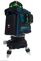Линейный лазерный уровень KRAISSMANN 12 3D-LL25 нивелир зеленый луч 12 линий,калиброванный