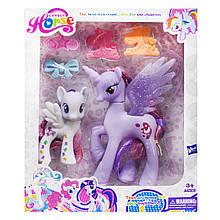 Набор пони My Lovely Horse с аксессуарами (фиолетовый)