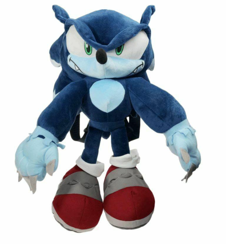Мягкий рюкзак игрушка Супер Соник Sonic Werehog
