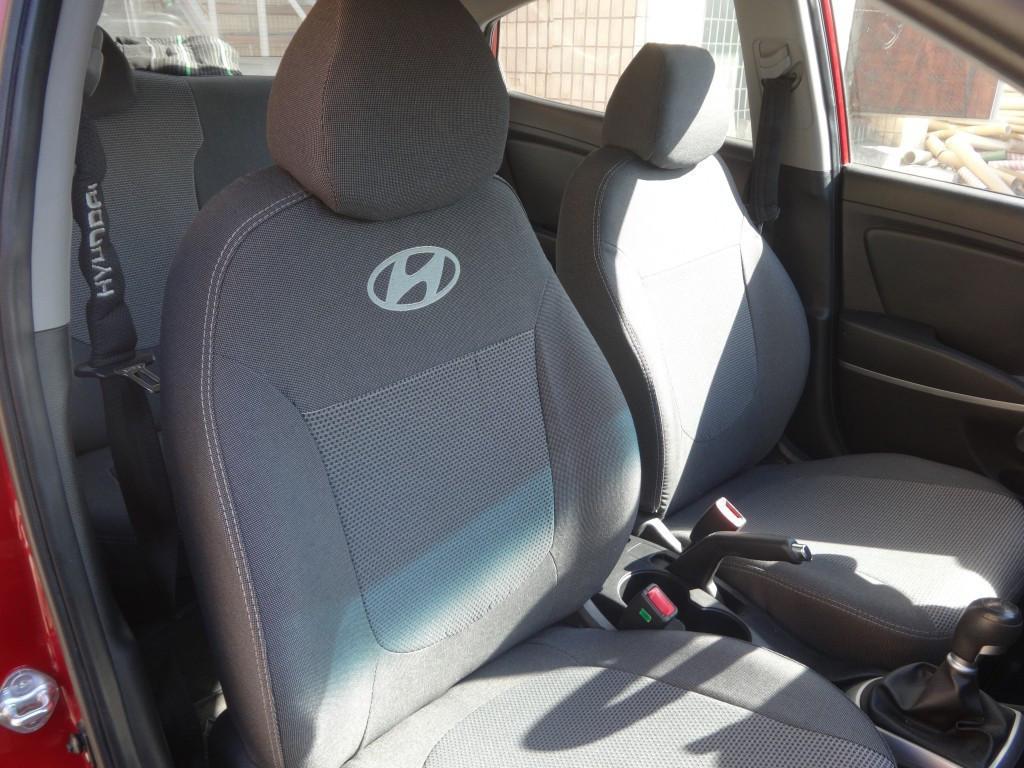 Чехлы модельные Hyundai Accent (раздельный) с 2010 г Elegant Classic №264