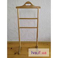 Стійка-вішалка підлогова для одягу деревяна