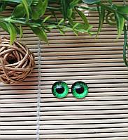 """Глазки """"живые"""", 12 мм, ярко зеленые, фото 1"""
