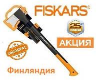 Финляндия ✓ Гарантия 25 Лет ✓ Набор.Топор-колун Fiskars M-X17+Точилка Fiskars Xsharp  для топоров и ножей.