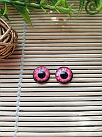"""Глазки """"живые"""", 12 мм,  розовые, фото 1"""