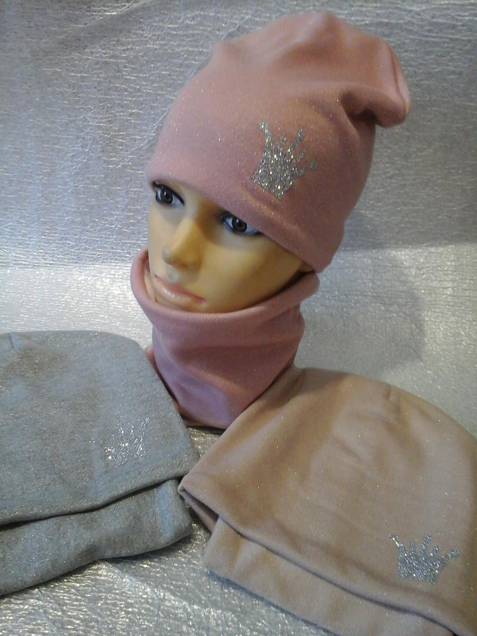 Весенняя  шапочка  с шарфиком бафф