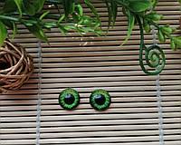 """Глазки """"живые"""", 12 мм,  зеленые, фото 1"""