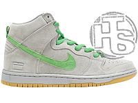 Мужские кроссовки Nike Dunk SB High Silver Box Silver/Hyper Verde-Gum 313171-039