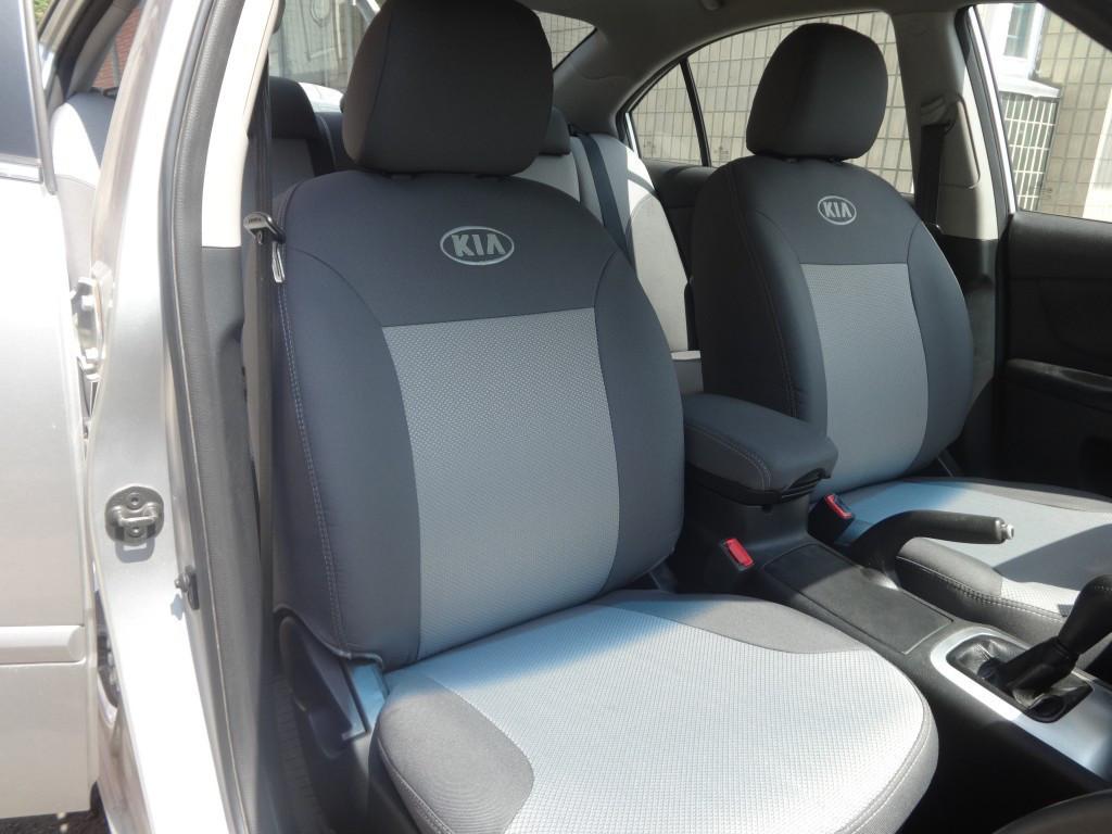 Чехлы модельные Kia Rio III Sedan деленая с 2011 г Elegant Classic №291
